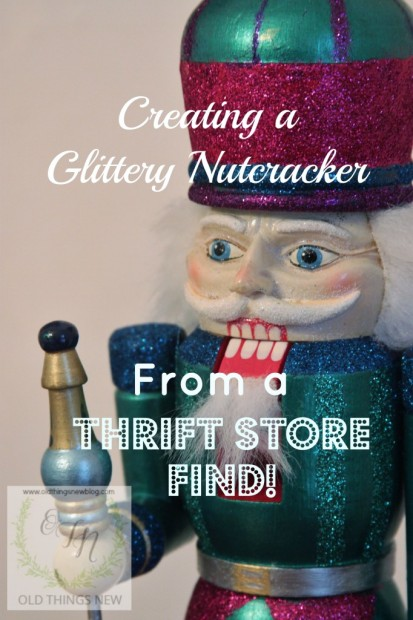 Creating a glittery nutcracker from a thrift store find old things new glittery nutcracker after 027 solutioingenieria Image collections
