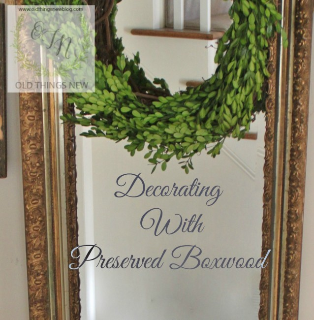 Decorating With Preserved Boxwood.
