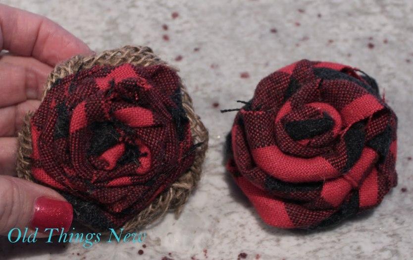Wool Shirt Rosette Wreath 001-001