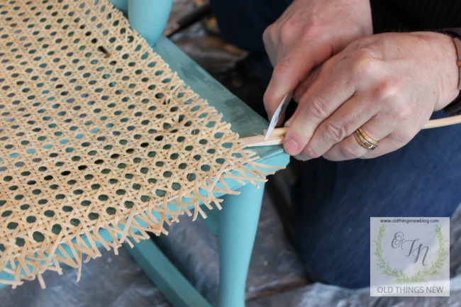 Old Things New  Recaning a Vintage Chair