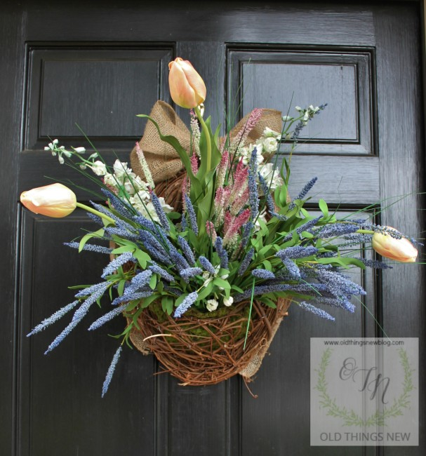 Spring Basket on Front Door 029