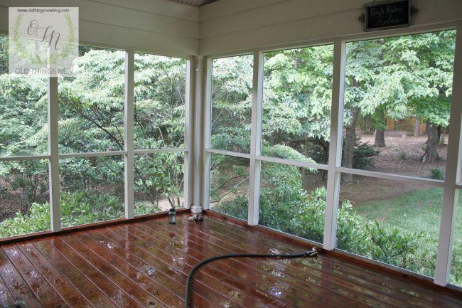 Washing screened porch 002