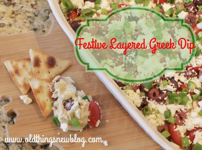 Festive Layered Greek Dip