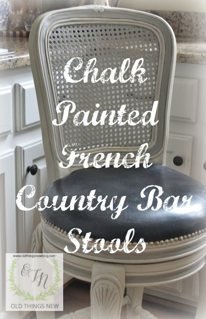 Chalk Painted French Country Bar Stools