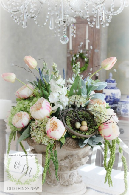 Easter Decor and Spring Arrangement 001
