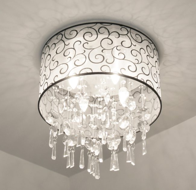Overcome by shiny objects crystal light fixtures old things new crystal bathroom light fixture 006 aloadofball Gallery