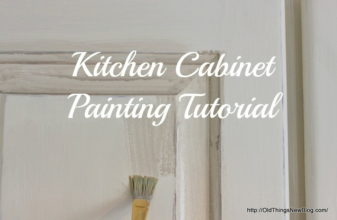 Chalk Painted Kitchen Cabinet Tutorial
