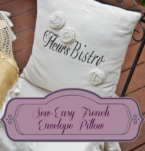 Sew Easy French Envelope Pillow from OldThingsNewBlog