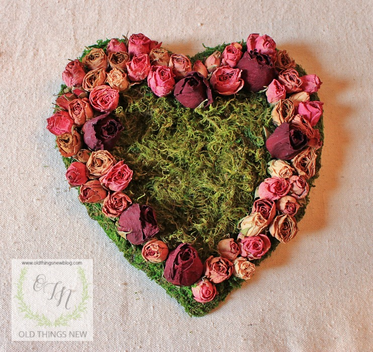 Dried Roses Amp Moss Valentines Day Heart Old Things New