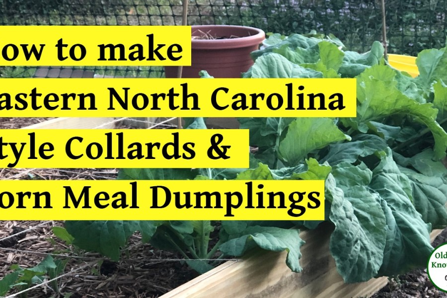How to make collards and corn meal dumplings