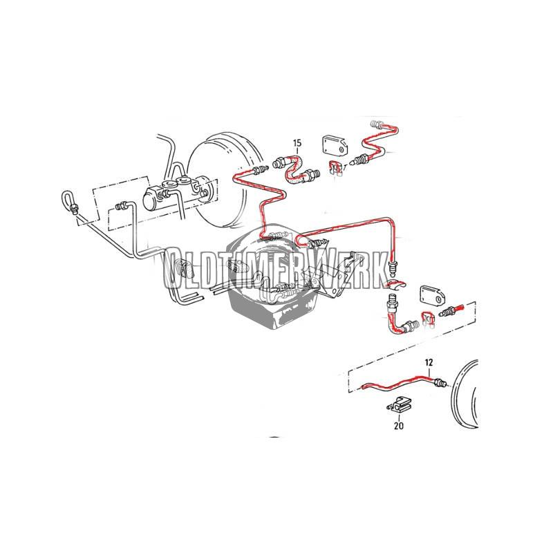 Bremsleitungssatz für Hinterachse 2 mit lastabhängigem