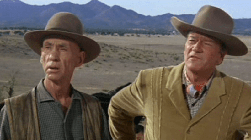 Hank Worden and John Wayne