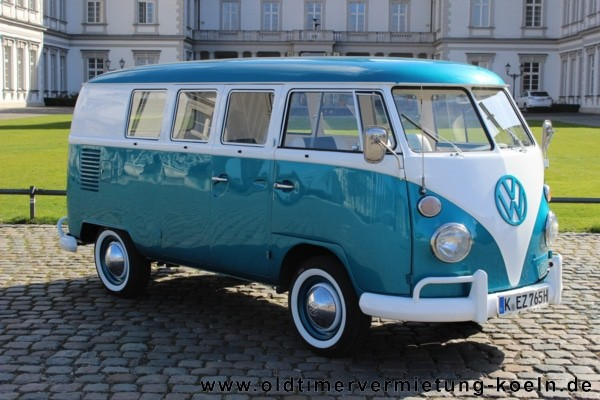 VW Bulli T1 de Luxe BLAU  Bj1965  ClassicCarEvents eK