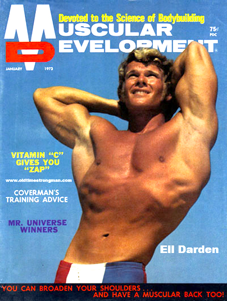 Ell Darden on the COver of Muscular Development, Januarly 1973