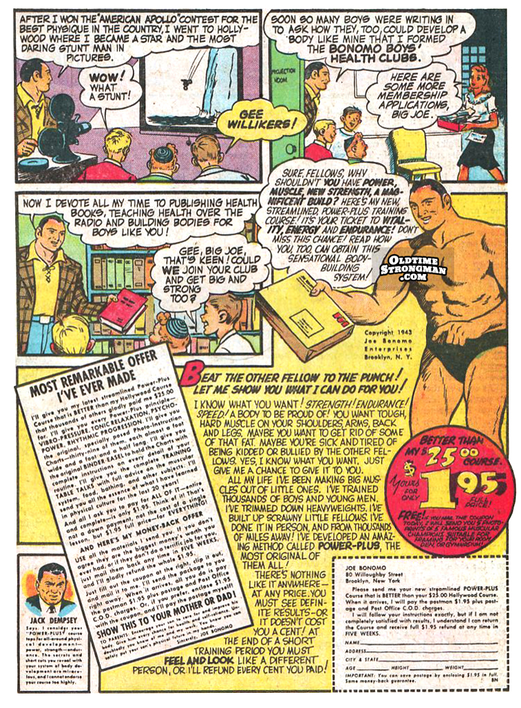 Joe Bonomo's Comic Advertisement