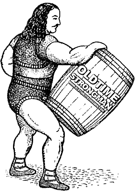 Louis Cyr Barrel Lifting