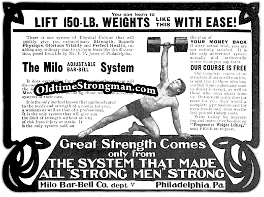 Milo Barbell Advertisement