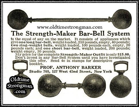 Ptofessor Barker's Strength Maker Var-Bell System