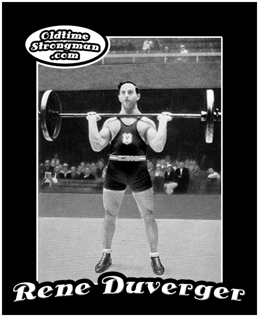 Rene Duverger - French Olympic Weightlifting Champion
