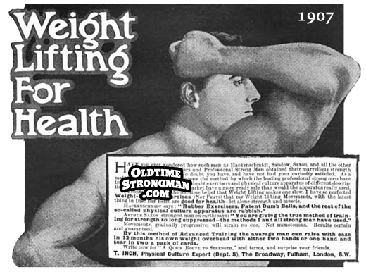 Weight Lifting For Health Thomas Inch Advertisement