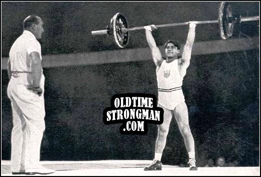 Tony Terlazzo's winning lift at the 1936 Olympics