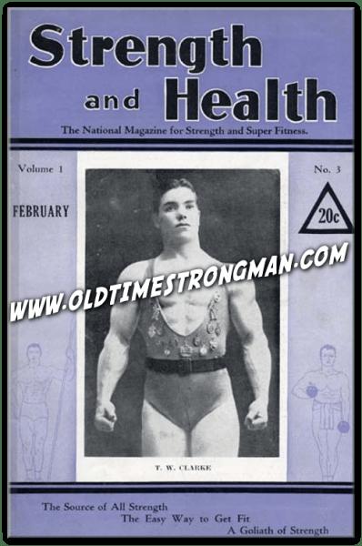 T.W. Clarke, February, 1933 Strength and Health
