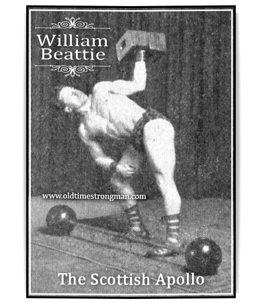 William Beattie lifting two blockweights