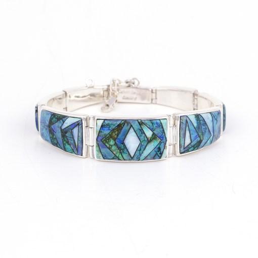 Calvin Begay Cultured Opal Link Bracelet