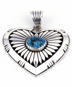 Henry Yazzie Heart with Turquoise