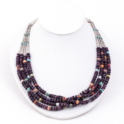 Sterling Multi stone Bead Necklace