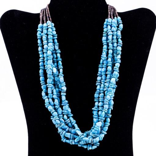 Peyote Bird Turquoise Bead Necklace