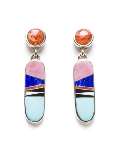 Ladies' Southwestern Calvin Begay Earrings