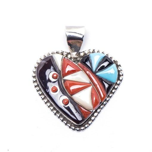 Navajo Calvin Begay Lapis Love Pendant