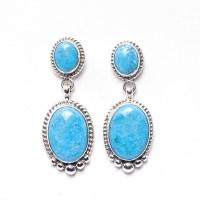Navajo Elouise Kee Turquoise Earrings - Old Town Jewels