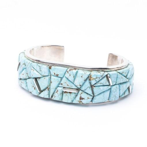 Navajo artist FAT Turquoise Bracelet