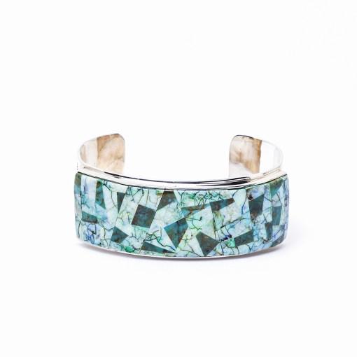 Navajo artist F Arviso Turquoise Bracelet