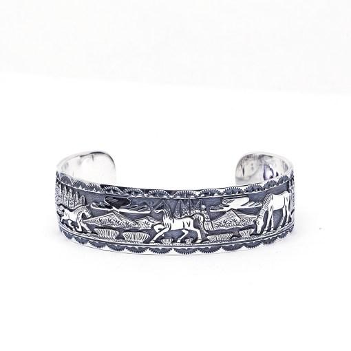 Navajo artist June Defauto Cuff Bracelet