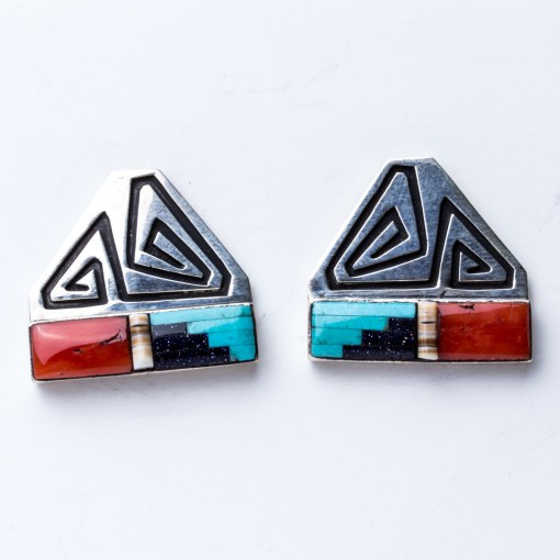 Navajo artist Abraham Begay Turquoise Earrings
