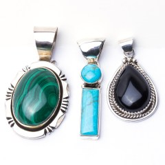 Navajo sterling and turquoise pendant
