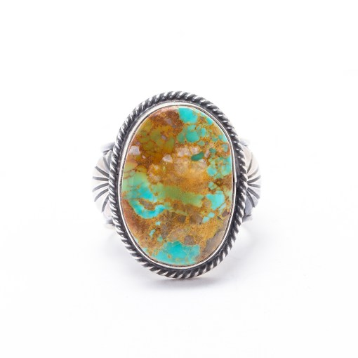 Navajo Artist KY Turquoise Ring