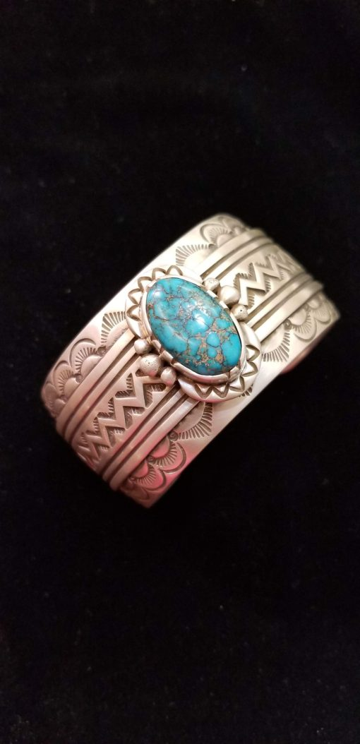 Navajo Bracelet by Henry Yazzie with Turquoise