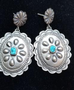 Navajo Concho Earring