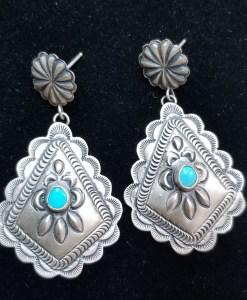 Navajo triangle concho earring