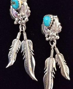 Navajo Spirit feather earrings