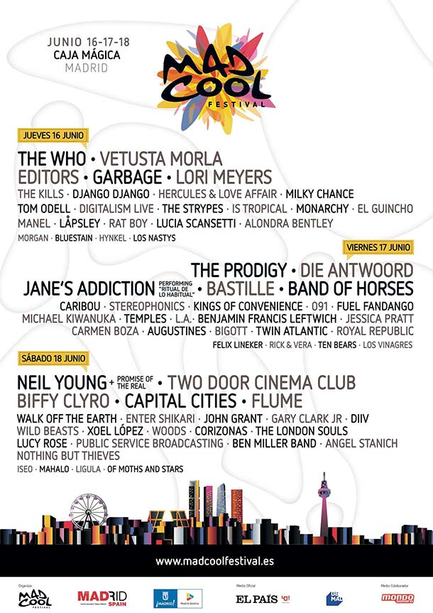Cartel completo de Mad Cool Festival