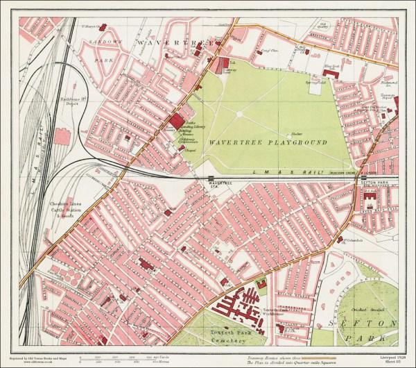Wavertree Liverpool 1928 Series Sheet 5 Large Map