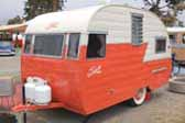 Very sharp 1956 Shasta 14ft trailer at Pismo Beach Trailer Rally