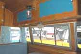 Picture of dining area in 1956 Shasta 1400 Travel Trailer