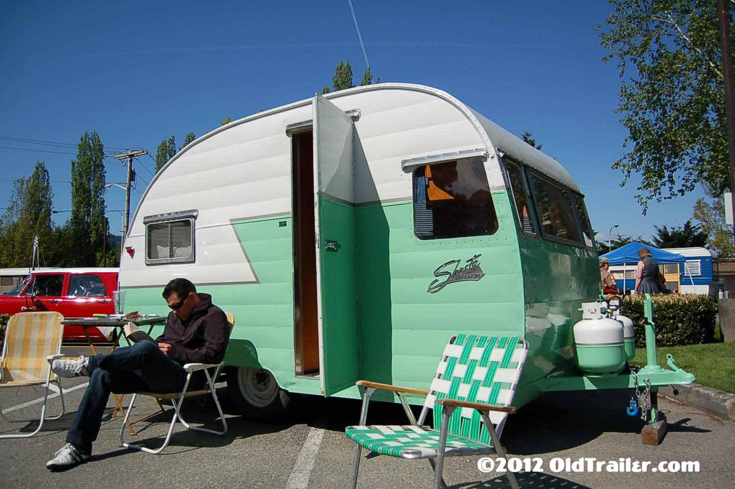 hight resolution of freshly restored 1956 shasta travel trailer