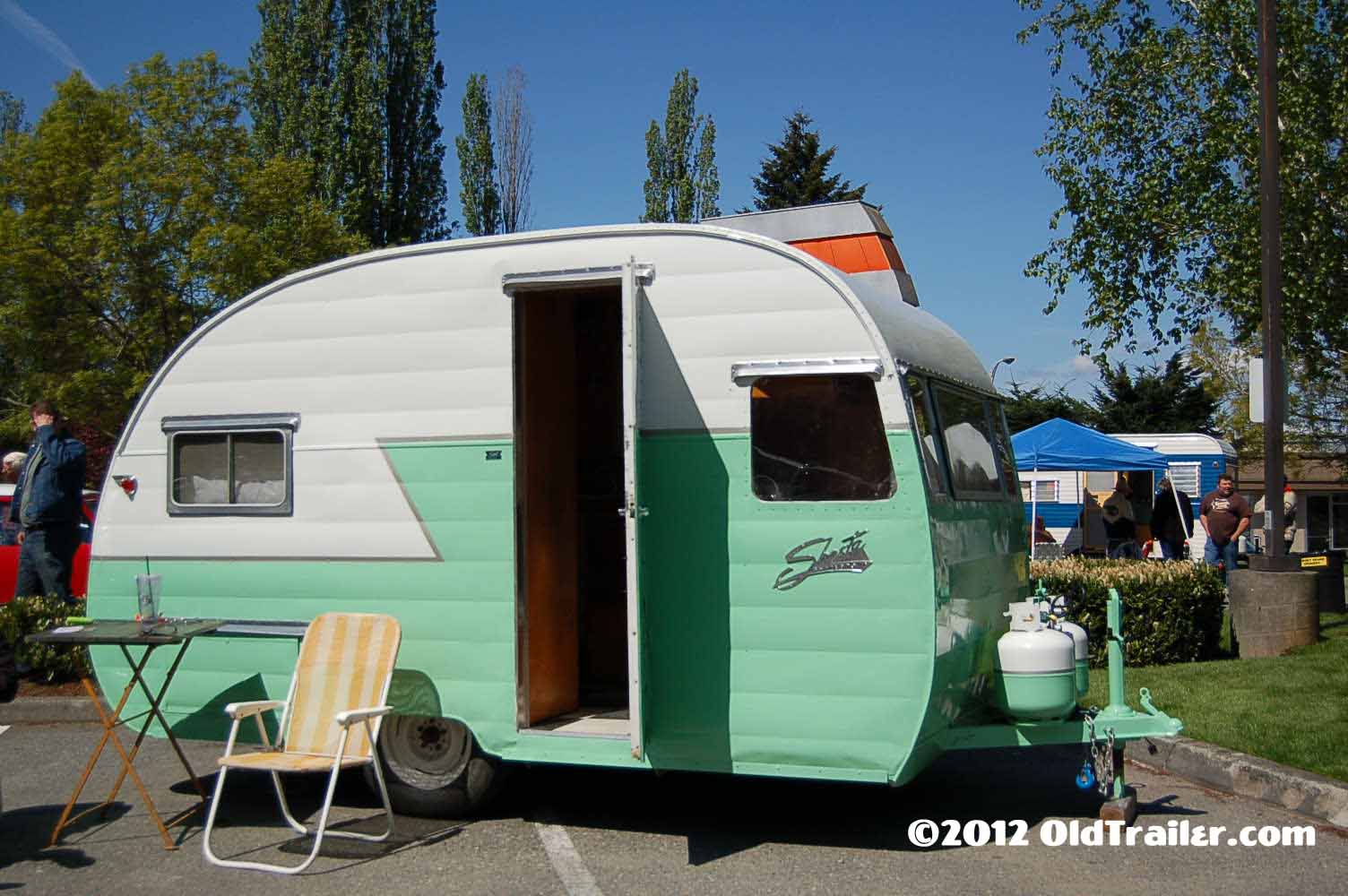 hight resolution of classic 1956 shasta trailer ready for camping